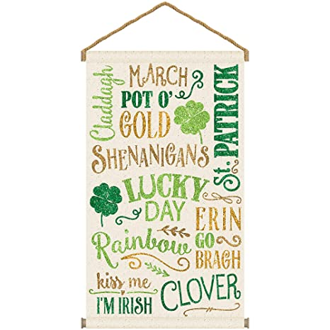 Amazon.com: Amscan St. Patricks Day - Cartel de lienzo ...