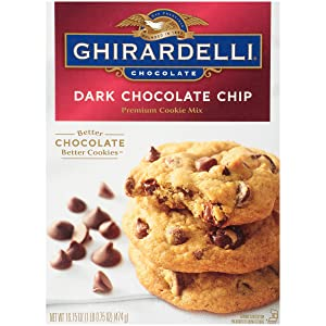 Ghirardelli Premium Cookie Mix, Dark Chocolate Chip, 16.75-Ounce Boxes (Pack of 12)