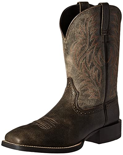 a39093269d1 ARIAT Men s Sport Wide Square Toe Western Boot Brooklyn Brown Size 6 M Us
