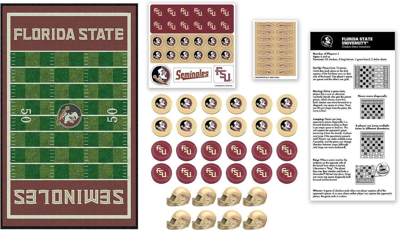 MasterPieces NCAA Florida State Seminoles Checkers Board Game