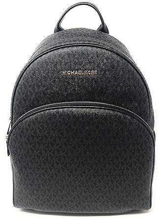 befb29bb6a84cb MICHAEL Michael Kors Abbey Jet Set Large Leather Backpack (Black 2018):  Amazon.co.uk: Luggage