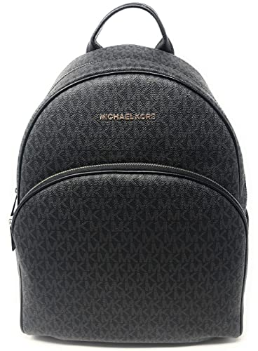 b5776769cace Amazon.com  MICHAEL Michael Kors Abbey Jet Set Large Leather Backpack  (Black 2018)  Shoes