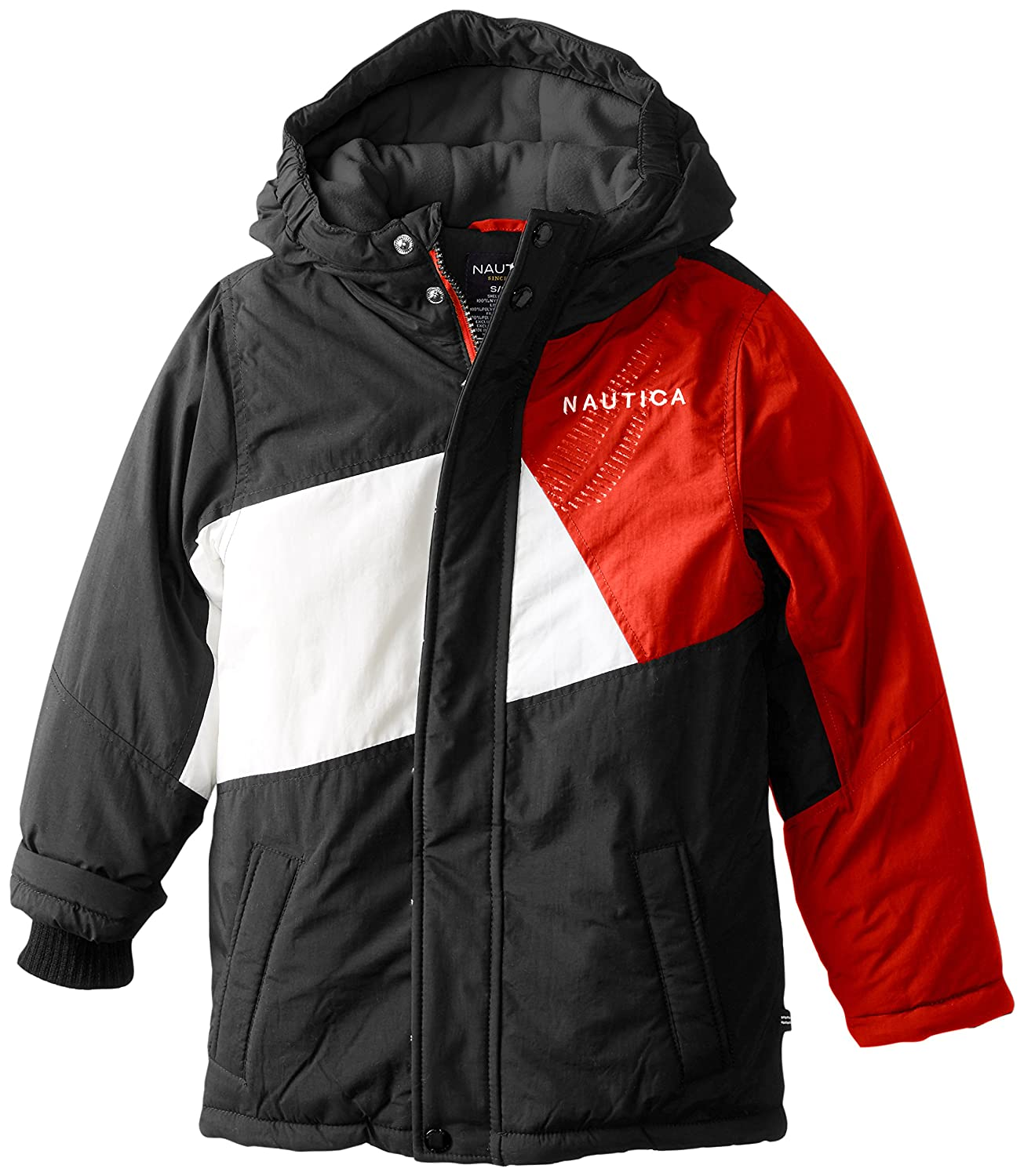 Nautica Boys' Color Block Snorkel Coat N429014Q