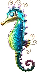 Bejeweled Display® Blue Seahorse w/Glass Wall Art Plaque & Home Decor