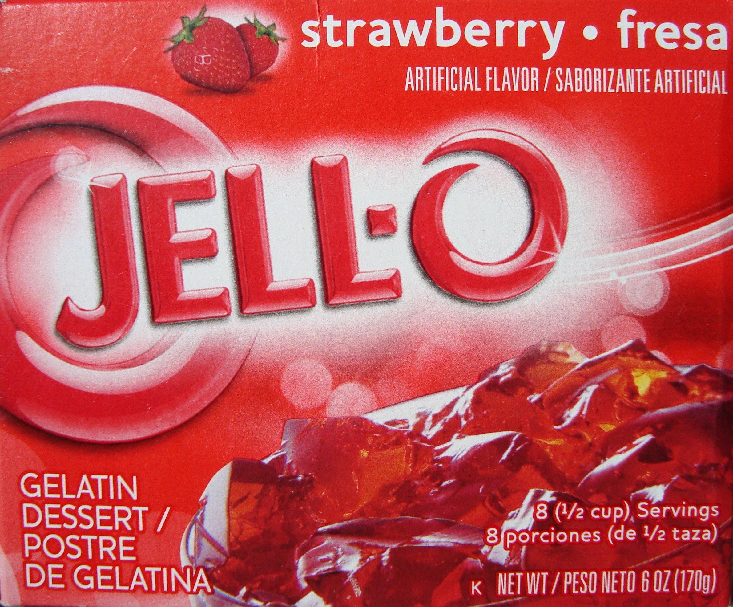 Jell-O Strawberry Flavor Gelatin Dessert, 6.0 oz (4-Packs)