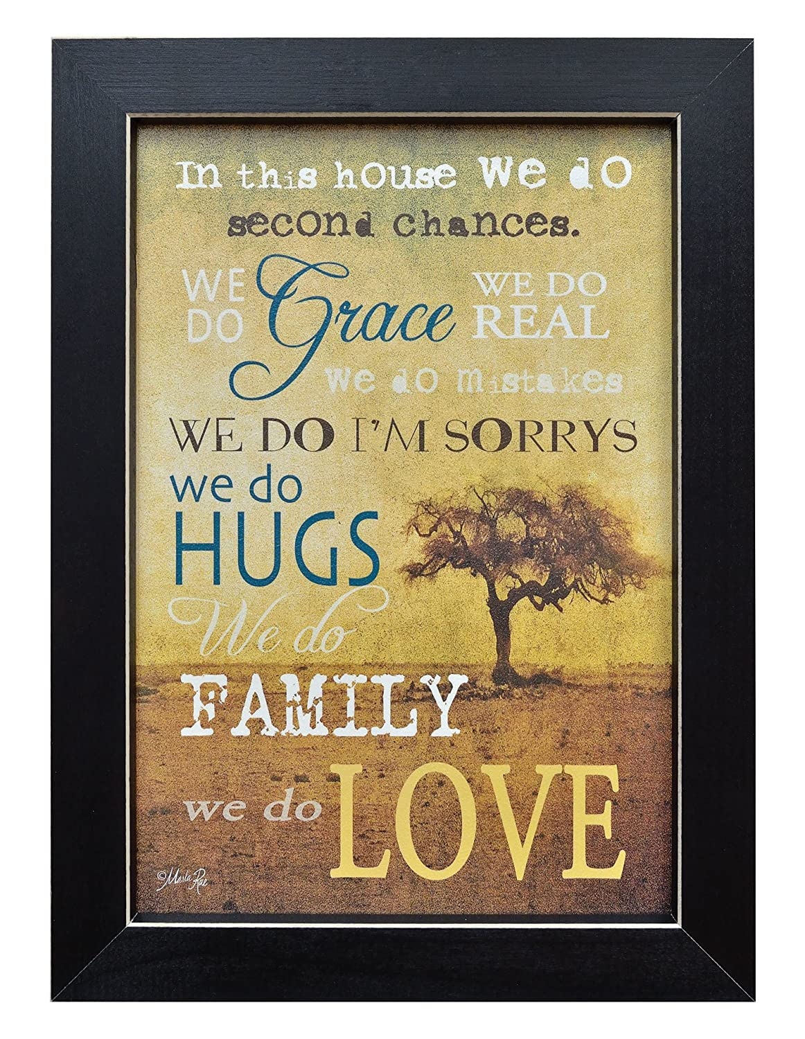 Amazon.com: Framed Print - In This House, We Do Grace, Hugs, Love ...