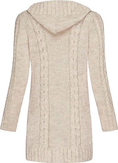 Mikos* Damen Cardigan Lang Elegant Strickjacke Wolle Langarm Strickmantel Mantel Fr/ühling//Winter//Herbst 535