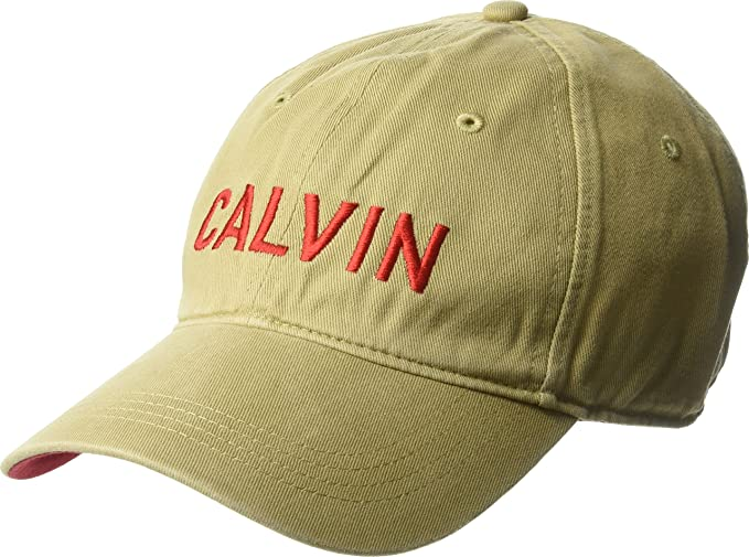 Calvin Klein Jeans Men s Embroidered Calvin Baseball Dad Hat 6b77e088c126