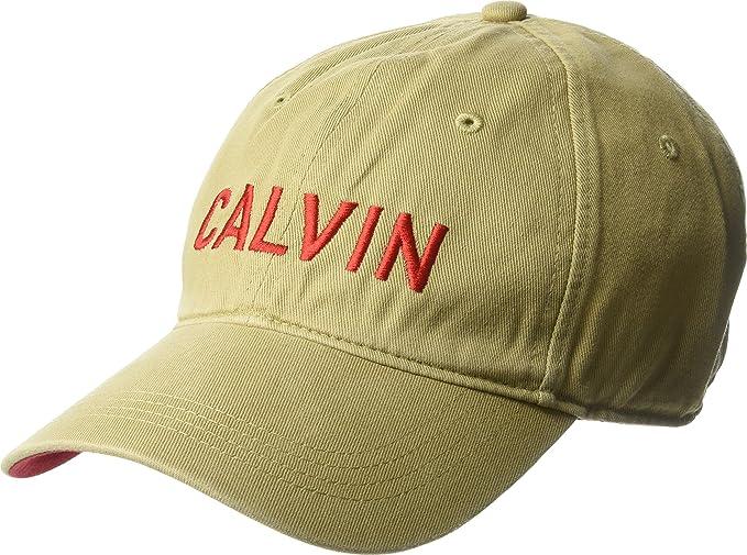 Calvin Klein Jeans Men s Embroidered Calvin Baseball Dad Hat b699e387d6f