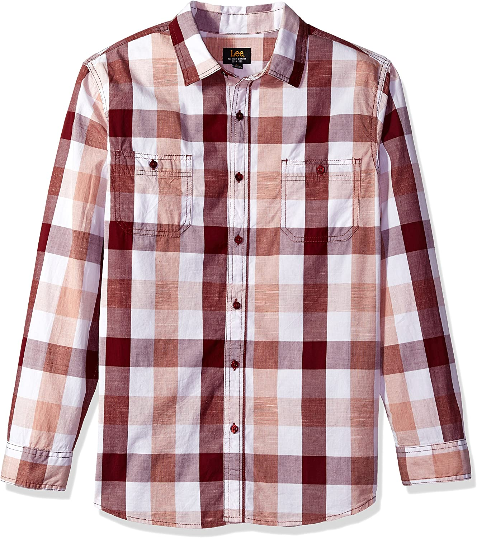 LEE Mens Long Sleeves Button Down Shirt