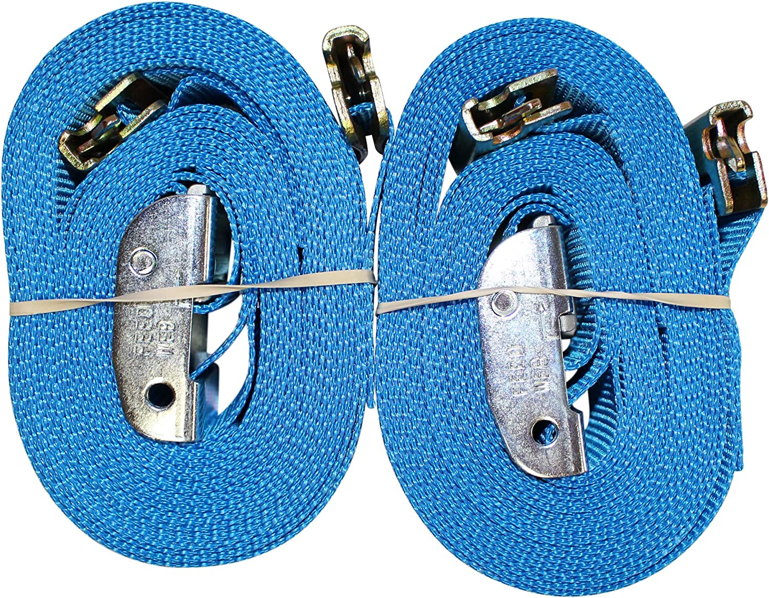 Heavy Duty Cargo Strap for Loading Truck Bed SGT KNOTS E-Track Adjustable Cam Buckle Strap Utility Trailer 2 x 12ft, 4Pack - Yellow