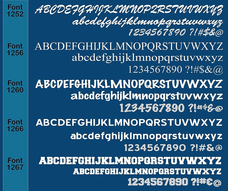 //Custom Vinyl Letter Number Decal Sticker // Sold Per Set // Customized Boat Registration Numbers 1060 Graphics 3 H x 18 W Boat Registration Numbers // Choose from 40 Custom Colors