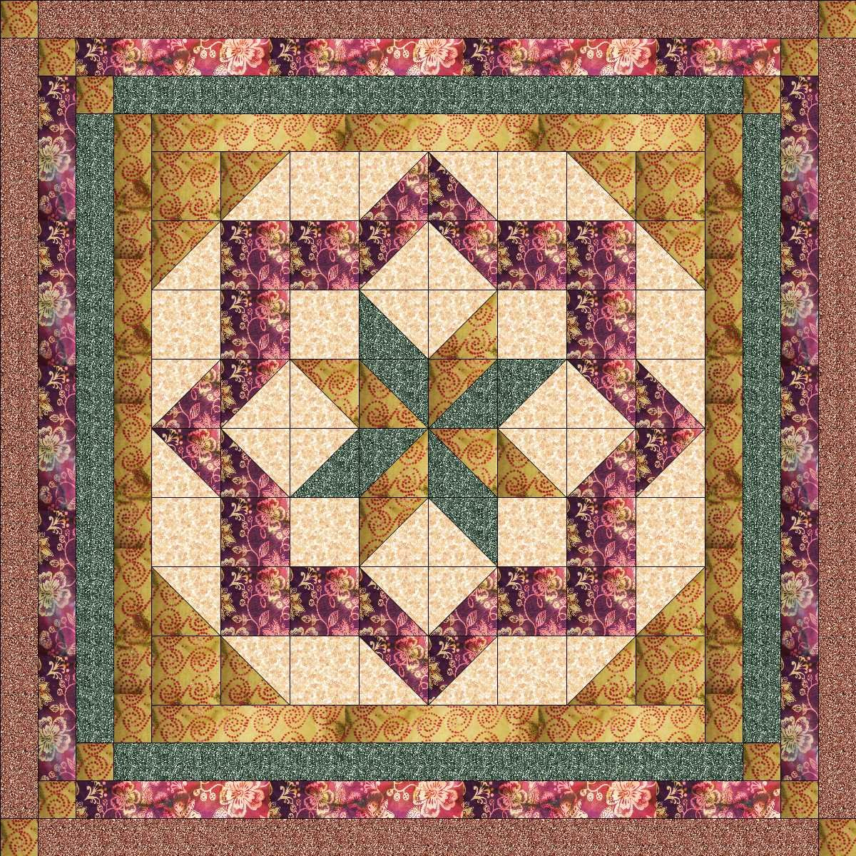 Easy Quilt Kit Constellation Christmas Batiks and Textureds/EXPEDITED SHIPPING