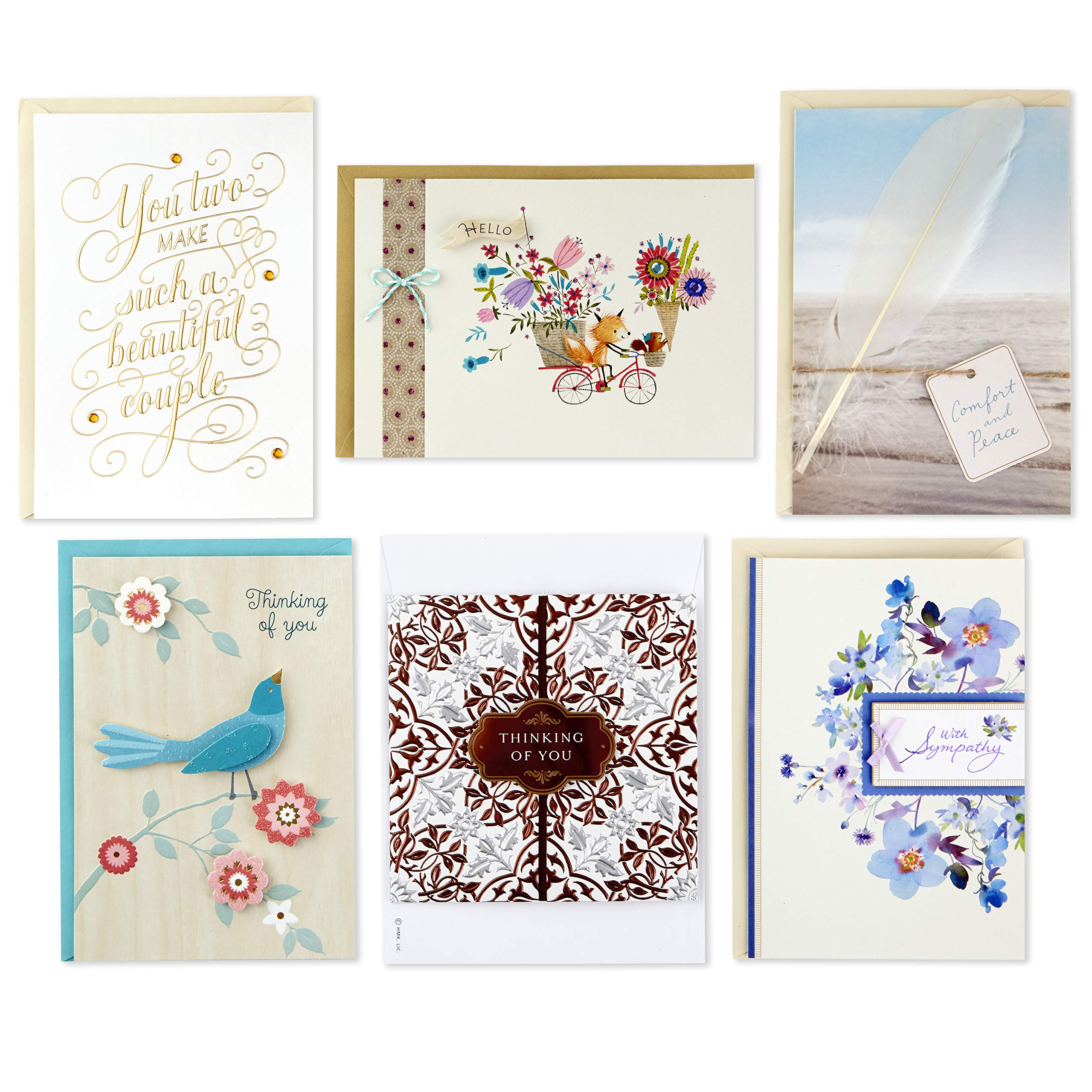 Hallmark Handmade All Occasion Boxed Greeting Card Assortment, Modern Floral (Pack of 24)-Birthday Cards, Baby Shower Cards, Wedding Cards, Sympathy Cards, Thinking of You Cards, Thank You Cards by Hallmark (Image #10)