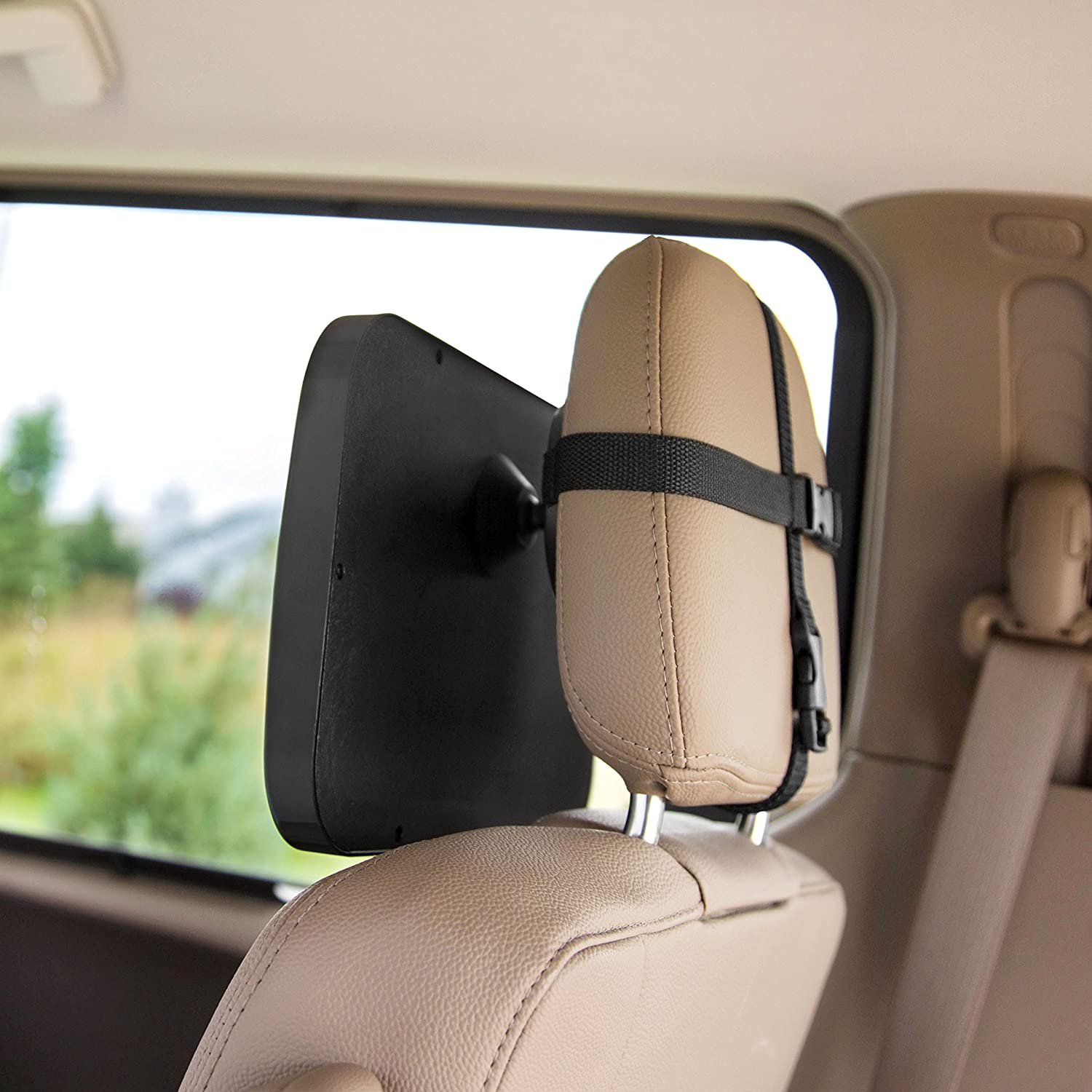 Convex Rear Facing Backseat Mirror is Shatterproof and Adjustable 360 Swivel Car Baby Mirror Helps Keep an Eye on Your Infant Wide Enovoe Baby Car Seat Mirror with Bonus Cleaning Cloth