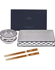 vancasso, série Haruka, Assiette Creuse, 8 pièces, en Porcelaine, Style Japonais