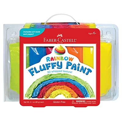 Faber-Castell Rainbow Fluffy Paint - Sensory Paint Set for Kids - Paint Your Own 3D Art, Scratch Art & More: Toys & Games