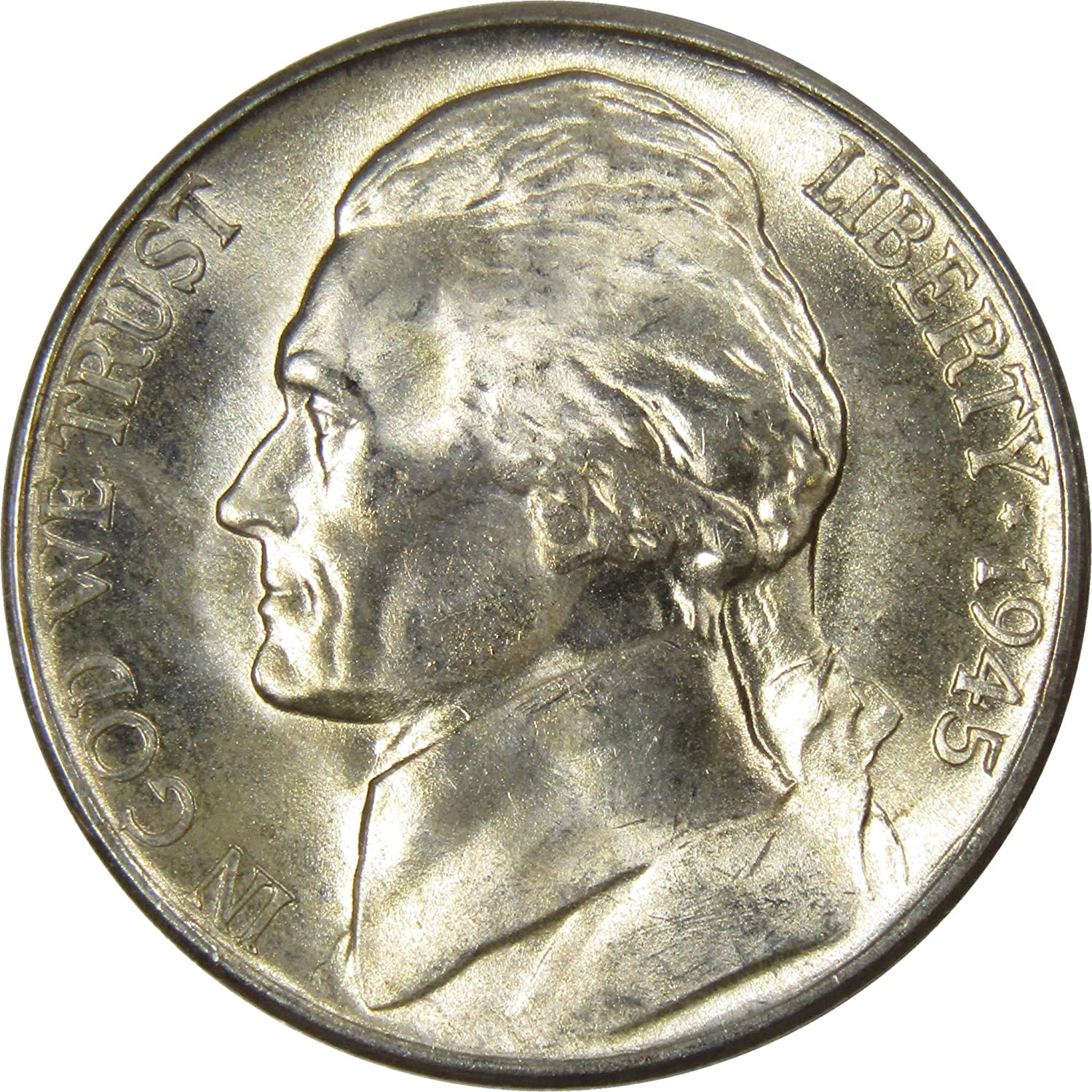 A 35 /% SILVER COIN 1945 S OR D Jefferson Nickel FREE SHIPPING!