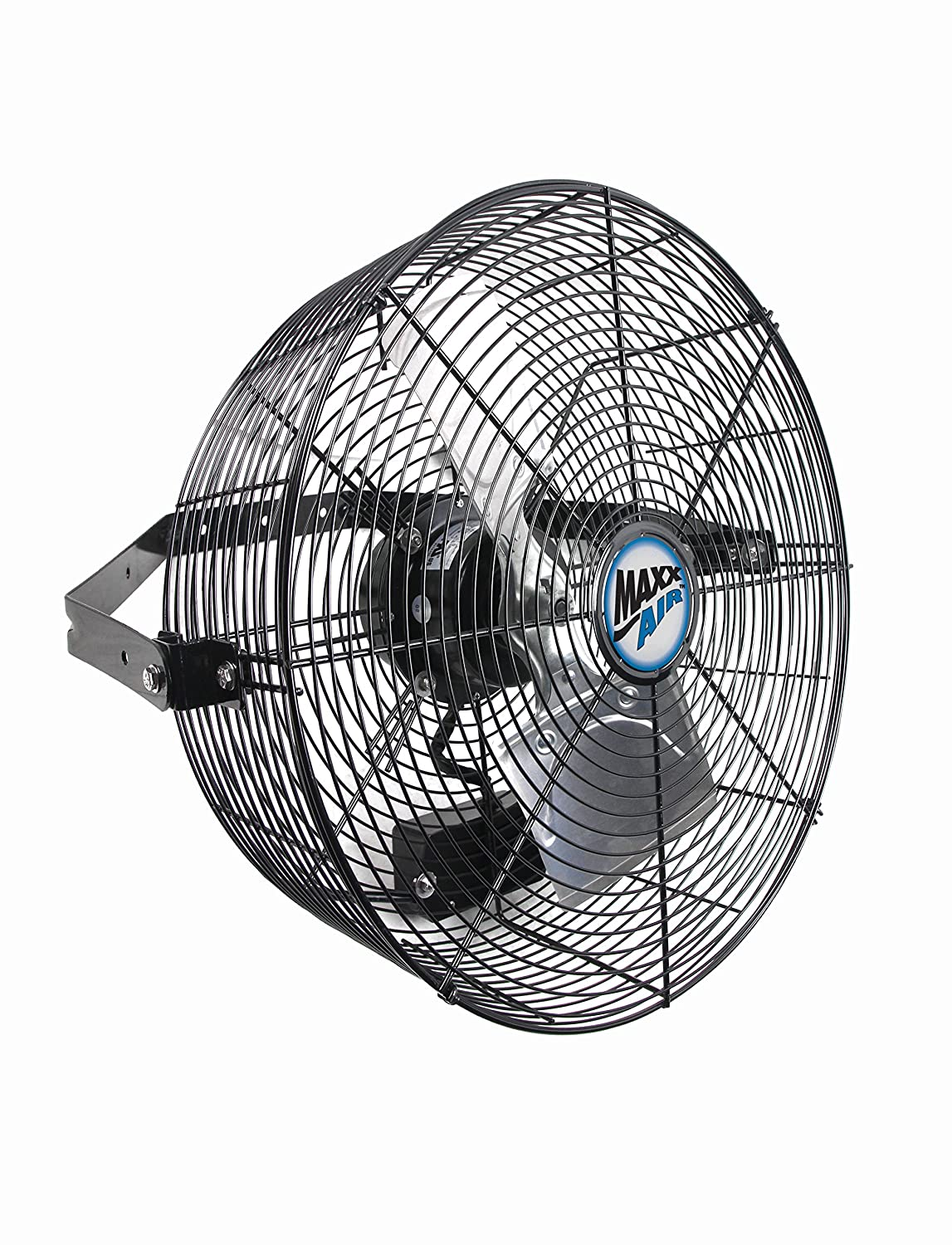 Maxxair Commercial Industrial High Velocity Wall Mount Fan, 18-Inch, Heavy Duty Grade for Patio, Barn, Shop 18 Inches
