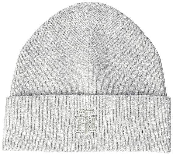 Tommy Hilfiger TH Rich Glitter Logo Beanie Gorra, Gris (Grey Pdb ...