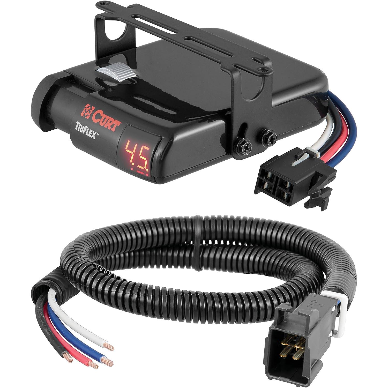 CURT TriFlex Brake Controller & Wiring Kit for 07-13 Silverado & Sierra - 51515 & 51140 Curt Manufacturing 4332988870