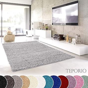 Teporio Shaggy Teppich | Flauschiger Hochflor Fürs Wohnzimmer, Schlafzimmer  Oder Kinderzimmer | Einfarbig,