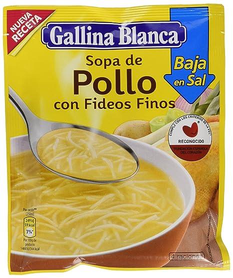Gallina Blanca - Sopa de Pollo con Fideos Finos Bajo en Sal - 68g - [