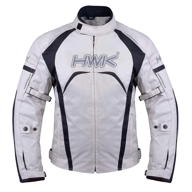 All-Black, L Motorcycle Jacket Mens Riding HWK Textile Racing Motorbike Hi-Vis Biker CE Armored Waterproof Jackets