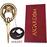 Hand of the King Beer Bottle Opener With Magnet – Cool Fan Game Merchandise In Gift Box – Letter Opener to Loyally Serve The Throne – Perfect Present For Men & Fans