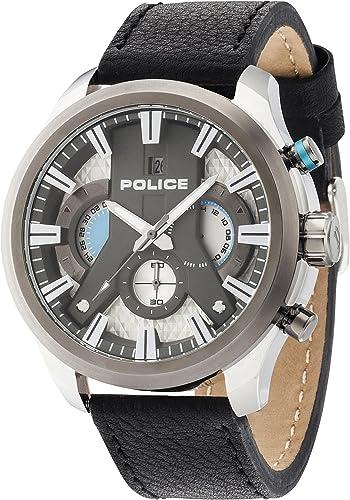 Amazon Com Police Men Watch Cyclone Chronograph Black P14639jstu 04 Watches