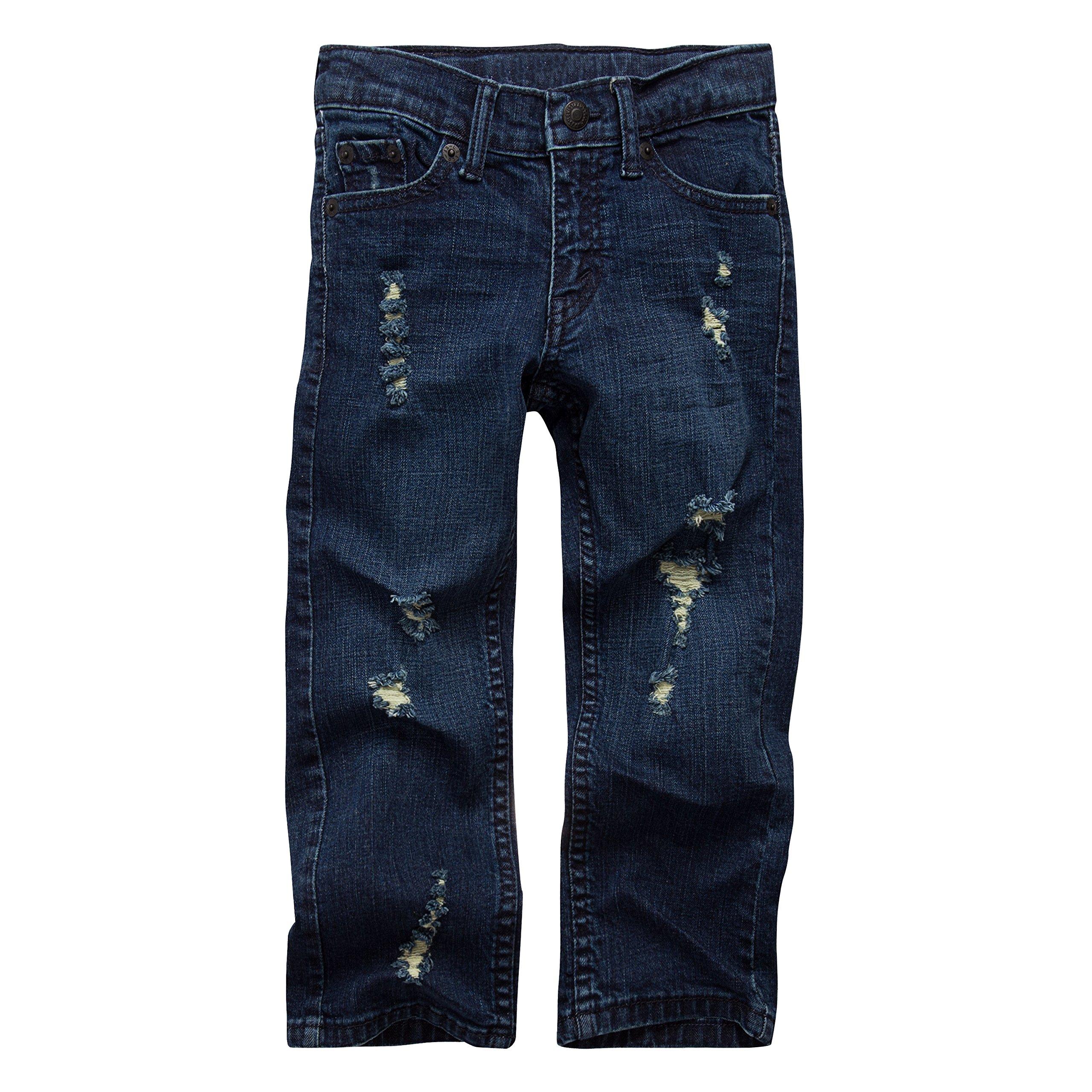 Levi's Boys' Big 511 Slim Fit Distressed Jeans, Jailhouse Rock, 16