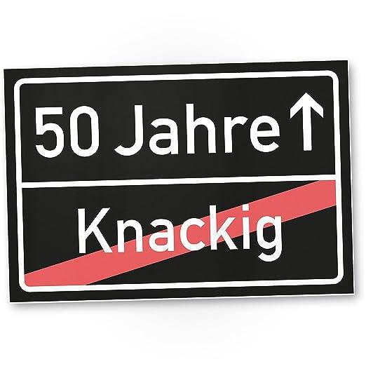 DankeDir!. 50 años (knackig) plástico ortssschild - Letrero ...