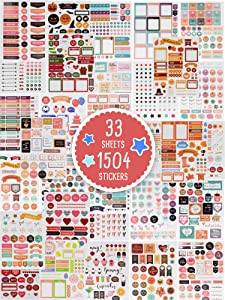 Gorgeous Planner Stickers - 1500+ Stunning Design Accessories Enhance and Simplify Your Planner, Journal and Calendar