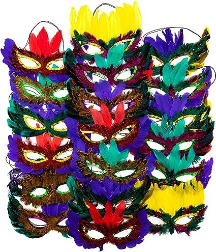 Amazon.com: 4Es Novelty - Máscaras de plumas de fantasía ...