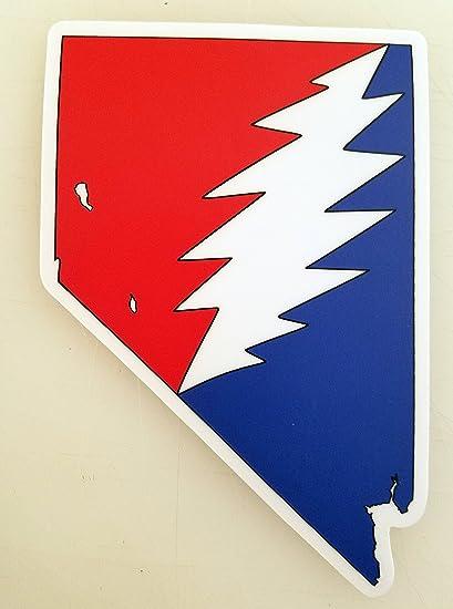 Nevada grateful dead die cut sticker 5 x 3 5 vinyl bolt deadhead jerry