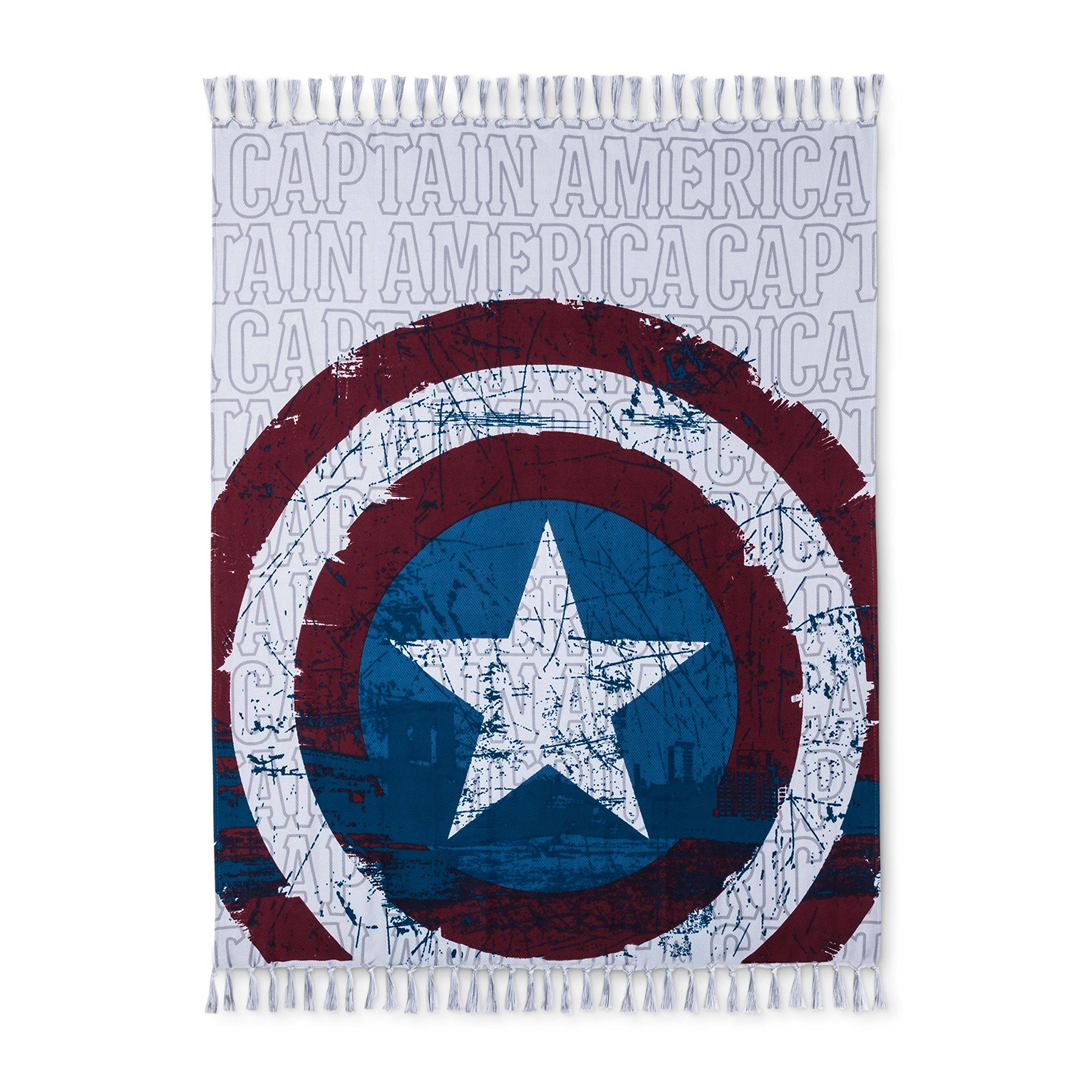 Marvel Captain America Gray & Red Throw Blanket (50''x60'') by Marvel