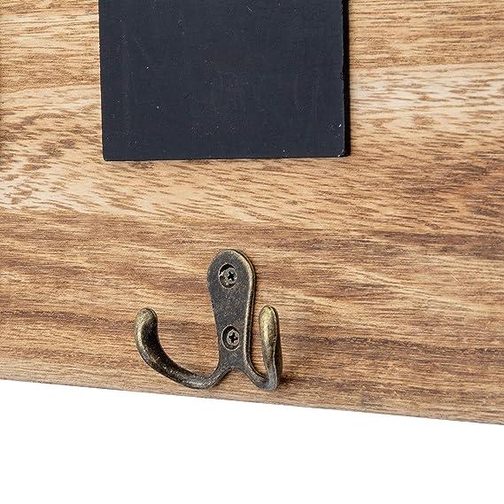 Amazon.com: Danya BR181022 - Perchero de pared con 5 ganchos ...