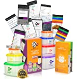 ULTIMATE portion control containers kit - 21 DAY TRACKER BONUS MOBILE APP (Includes recipes!) + BODY TAPE MEASURE + GUIDE By BMI - Color Coded - Food Safe, BPA Free Polypropylene