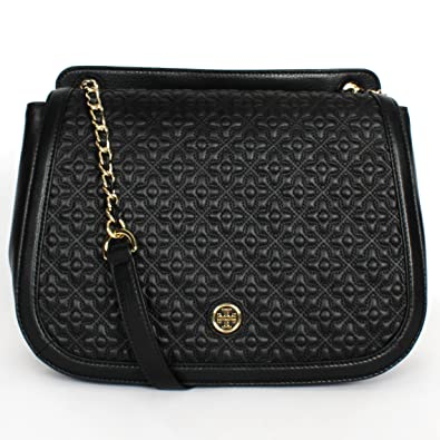 Tory Burch Bryant Quilted Leather Shoulder Bag Black  Amazon.in  Shoes    Handbags a88d3e8db