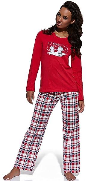 Cornette Pijamas Dos Piezas para Mujer Its easy (Rojo, ...