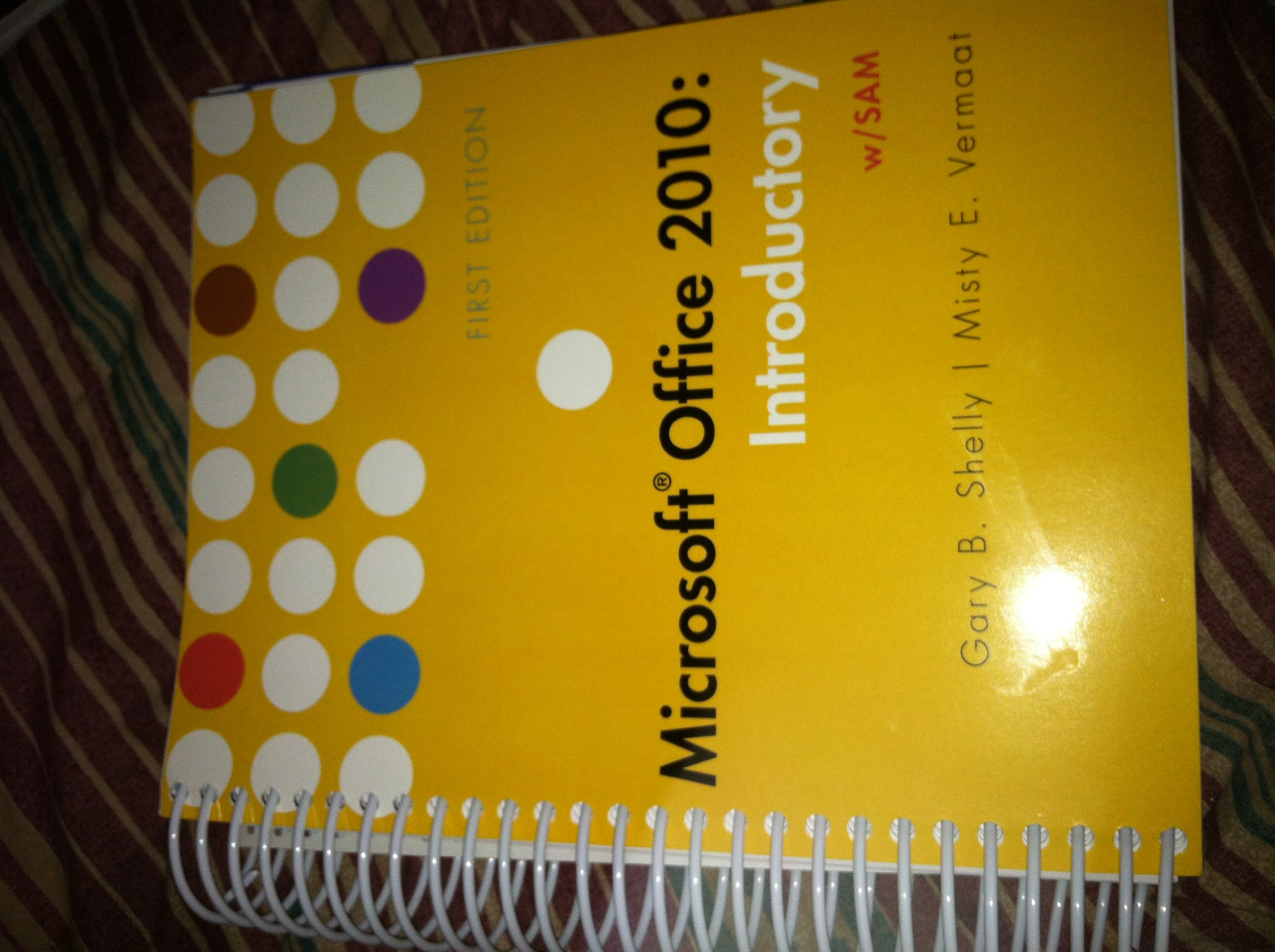 Introductory book microsoft office 2010