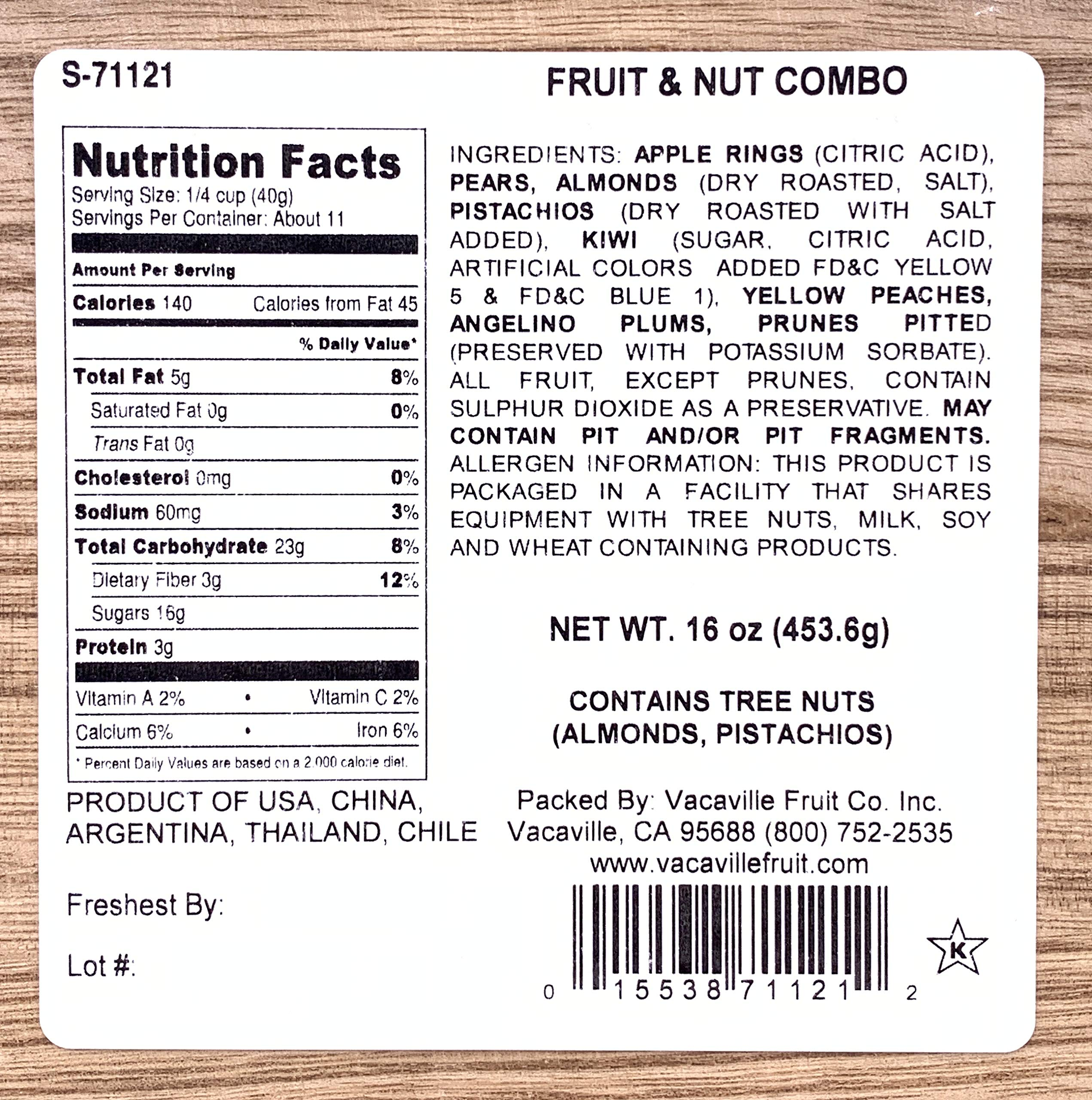 Nut and Dried Fruit Gift Box, Healthy Gourmet Snack Christmas Food Box, Great for Birthdays, Sympathy, Family Parties & Movie Night or as a Corporate Thank you by Vacaville Fruit Company (Image #2)