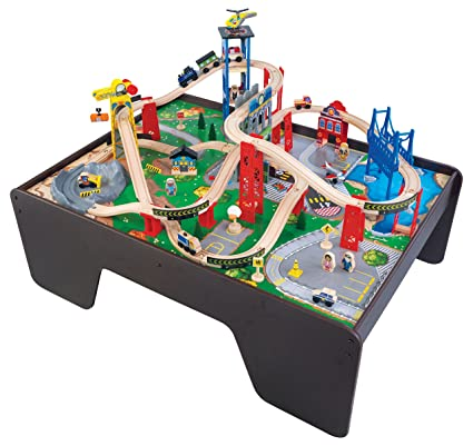 Amazon.com: KidKraft Super Expressway Train Set & Table: Toys & Games