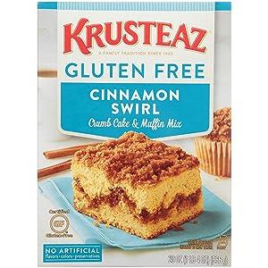 Krusteaz Gluten-Free Crumb Cake Mix, Cinnamon, 20 Ounce, Pack of 8