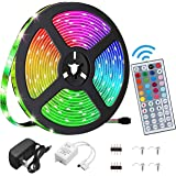 LED Strip Lights ,16.4ft RGB 5050 , IP65 Waterproof LED Tape Lights, Color Changing with Remote .for Bedroom, Living…