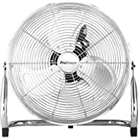 """Pro Breeze 20"""" Chrome Gym Floor Fan with 3 Speeds and Adjustable Fan Head"""