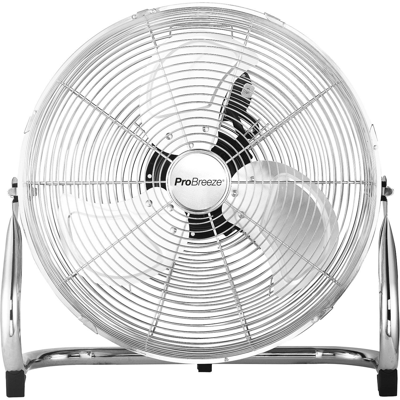 """Pro Breeze Ventilateur de Sol 20"""" Chrome - style Gym/Atelier/Garage - avec 3 vitesses et tête de ventilateur réglable product image"""