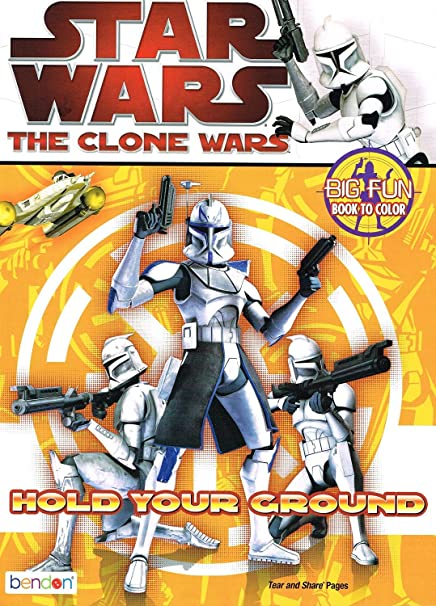 Amazon Com Star Wars The Clone Wars Big Fun Book To Color Hold