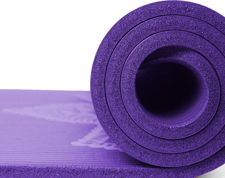 Retrospec Solana Yoga Mat Thick w//Nylon Strap for Men /& Women