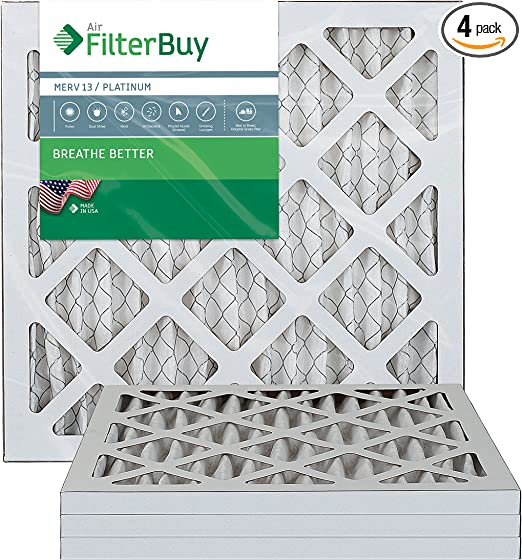 24x24x1 MERV 13 High Efficiency Pleated Home Air Filter ALLERGY RELIEF 12 Pack